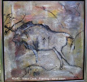 Hulemalerier - Såret bison