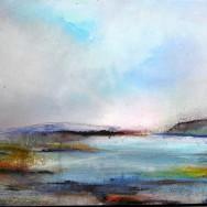 Fjordlandskab med møller