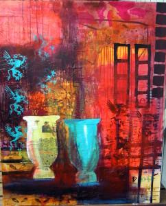 100x80 Collage med vaser