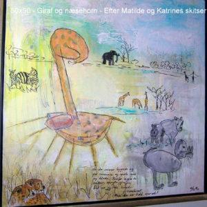 Næsehorn og giraf