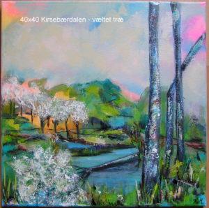 40x40 - Kirsebærdalen - væltet, blomstrende træ
