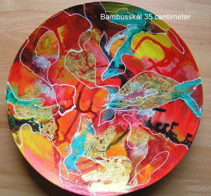 35 centimeter - Banbusfad, rød,gul, blå