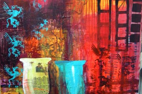 Collage med vaser